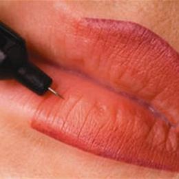 Контур губ с частичной растушевкой